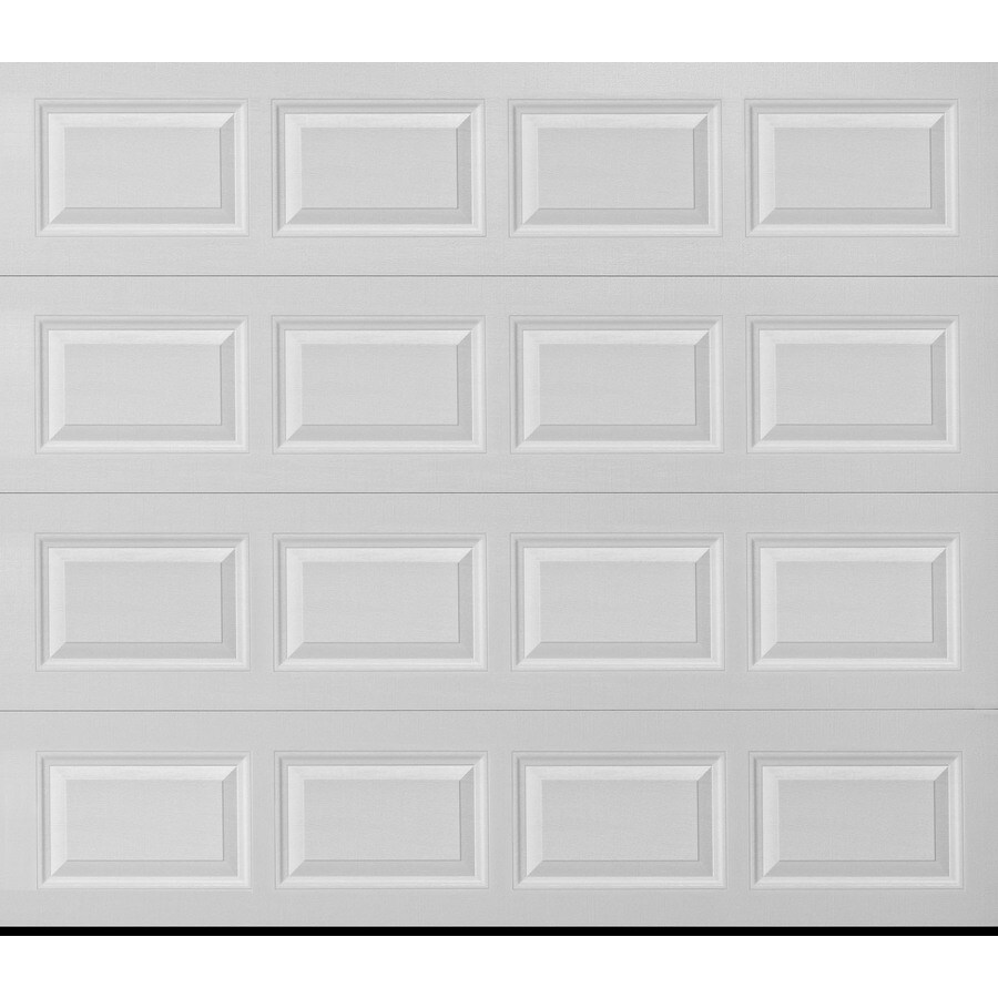 Pella Traditional Series 108-in x 96-in White Single Garage Door