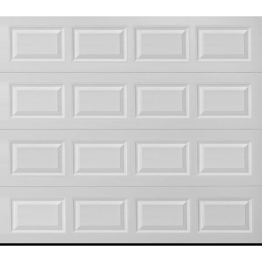 Pella Traditional Series 108-in x 84-in Insulated White Single Garage Door