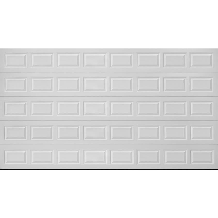 Pella Traditional Series 192-in x 96-in Insulated White Double Garage Door