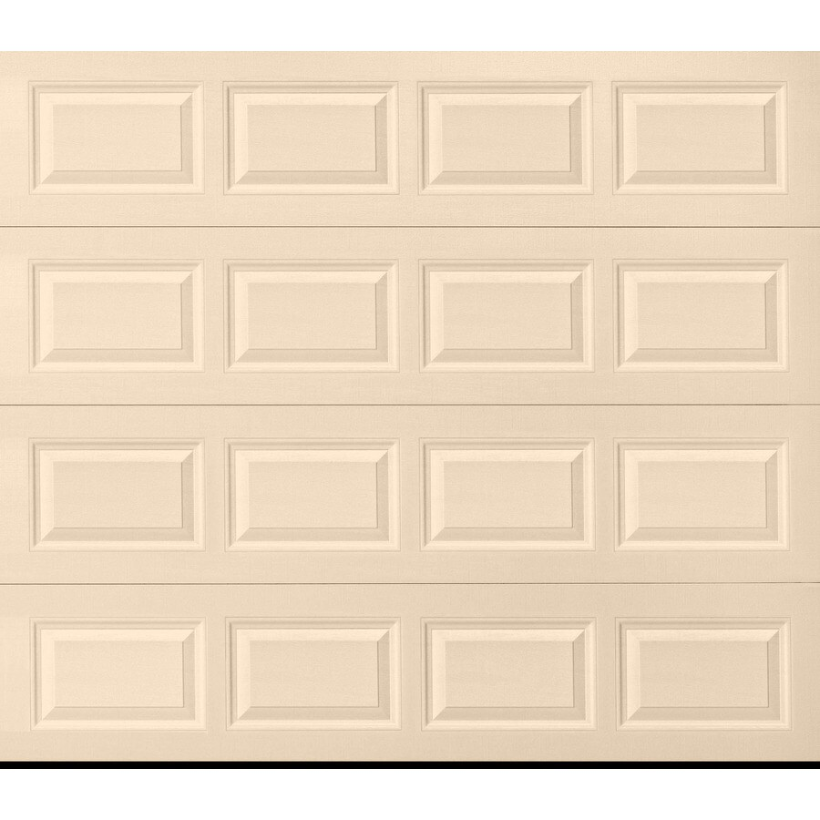 Pella Traditional Series 96-in x 84-in Insulated Almond Single Garage Door