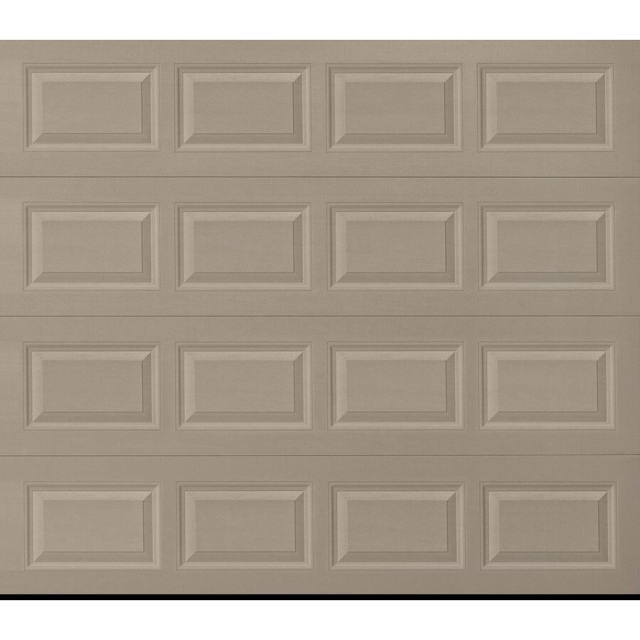 Pella Traditional Series 96-in x 84-in Insulated Sandtone Single Garage Door
