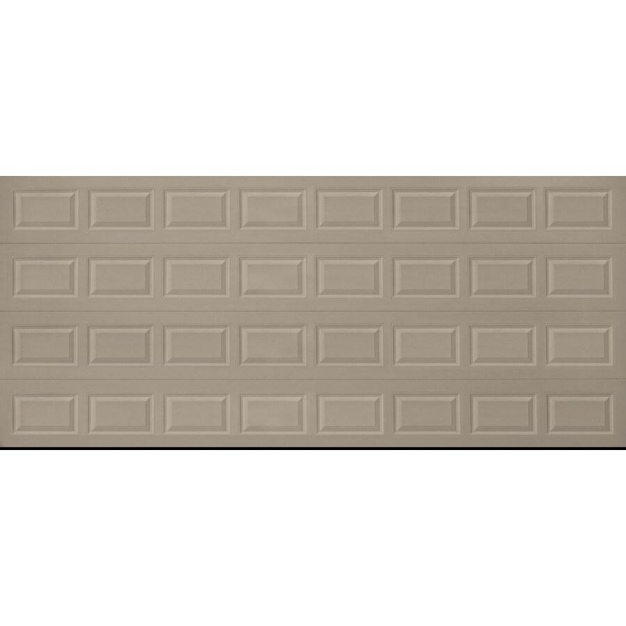 Pella Traditional Series 192-in x 84-in Insulated Sandtone Double Garage Door