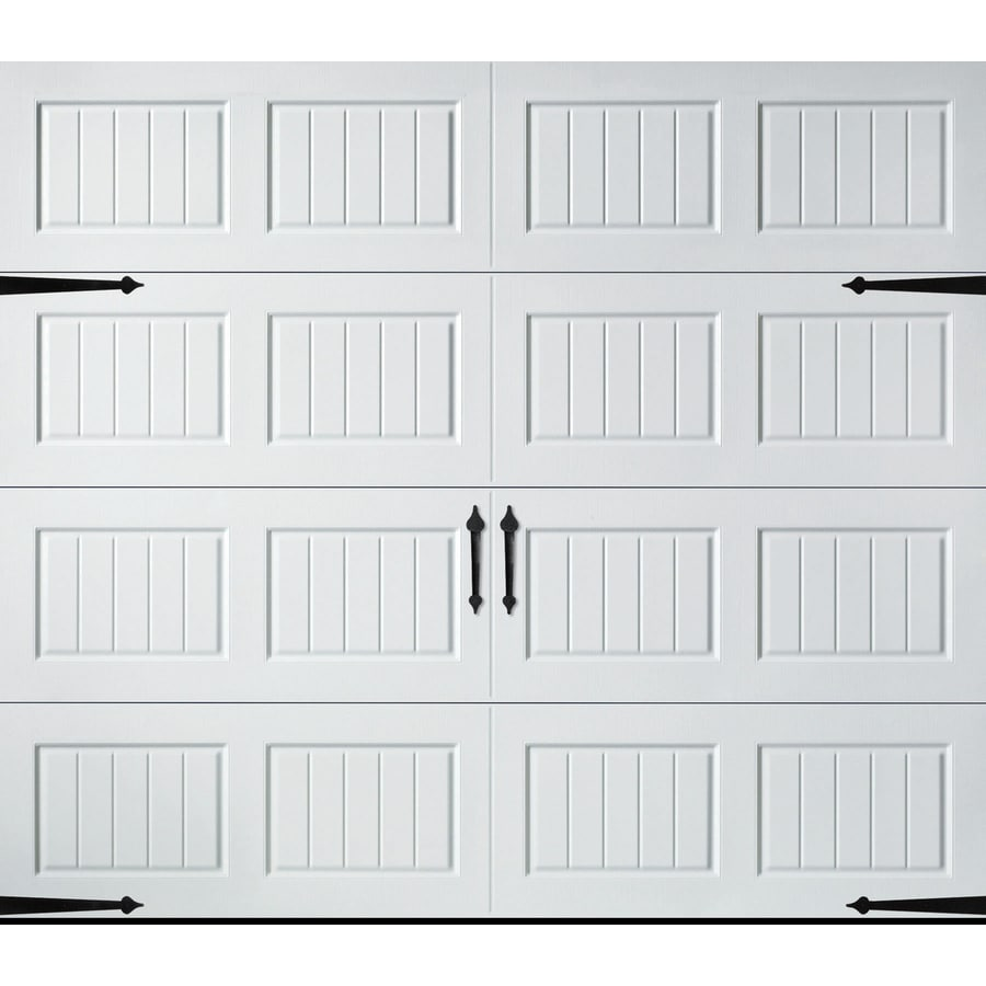 Pella Carriage House Series 108-in x 84-in White Garage Door