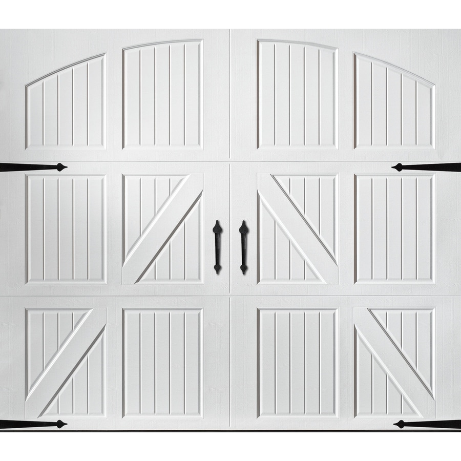 Shop Pella Carriage House Series 108 In X 84 In White Single Garage Door At L