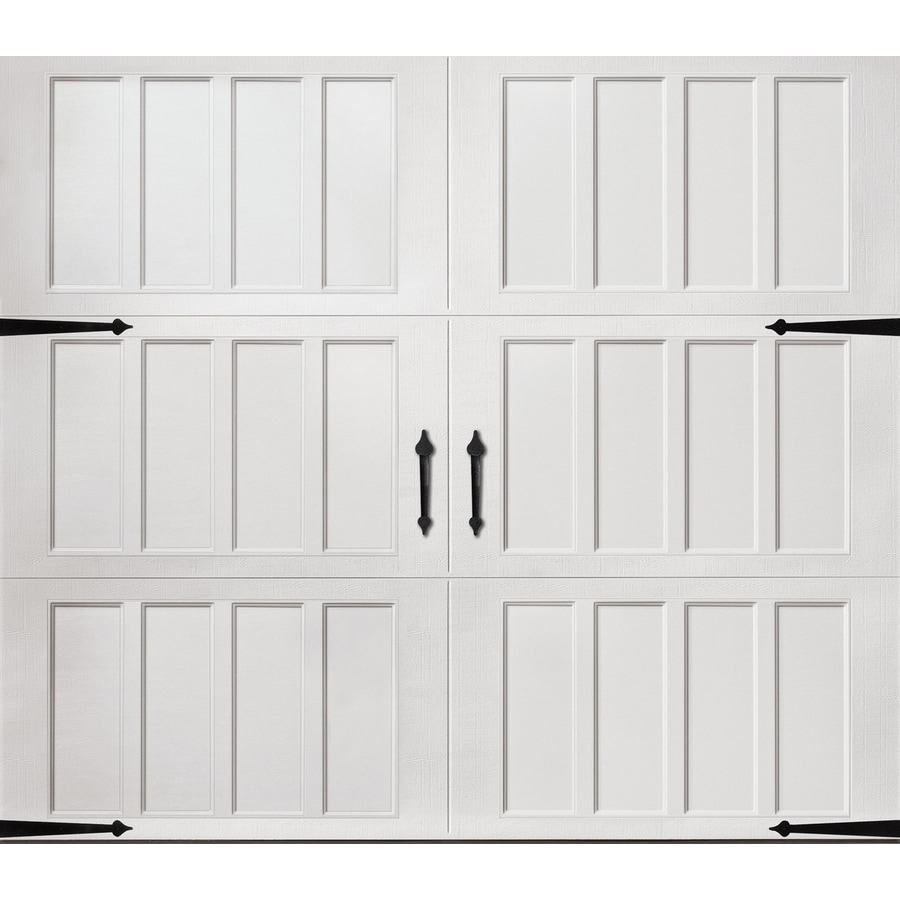 Pella Carriage House Series 108-in x 84-in Insulated White Garage Door