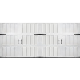 pella carriage house 192in x 84in insulated white double garage door