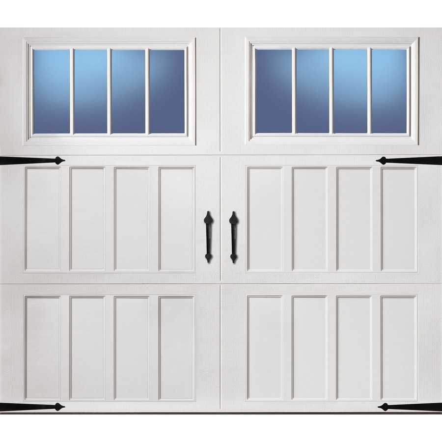 Shop pella carriage house series 96 in x 84 in insulated for Location of doors and windows