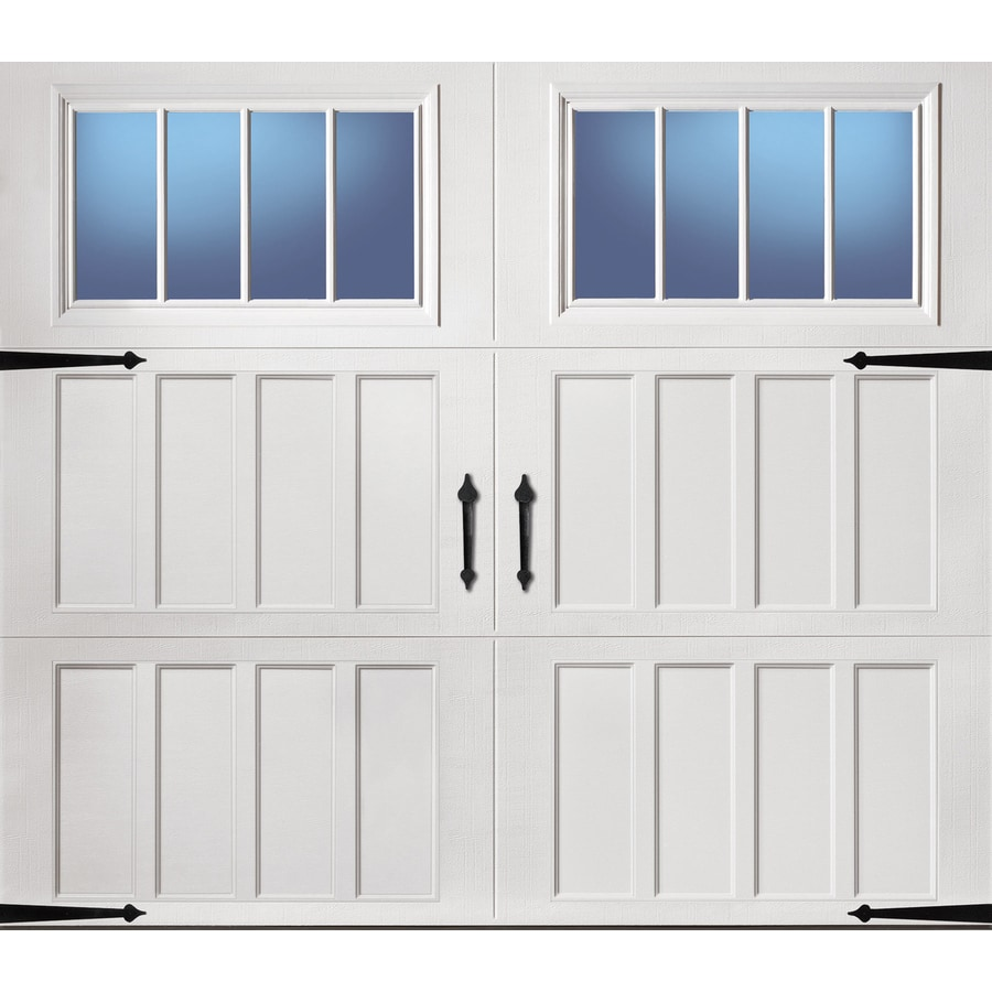 Shop pella carriage house series 108 in x 84 in insulated for House doors with windows