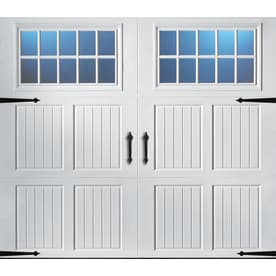 Exceptional Pella Carriage House 96 In X 84 In Insulated White Single Garage Door With