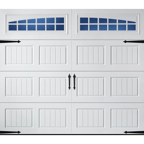 Pella Carriage House 96-in X 84-in Insulated White Single