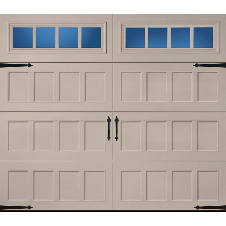 Pella Carriage House 96 In X 84 Insulated Sandtone Single Garage Door With