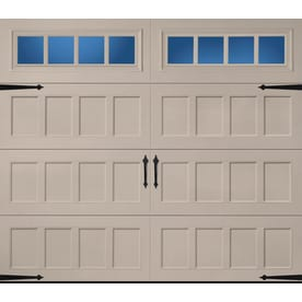 Charmant Pella Carriage House 96 In X 84 In Insulated Sandtone Single Garage Door  With