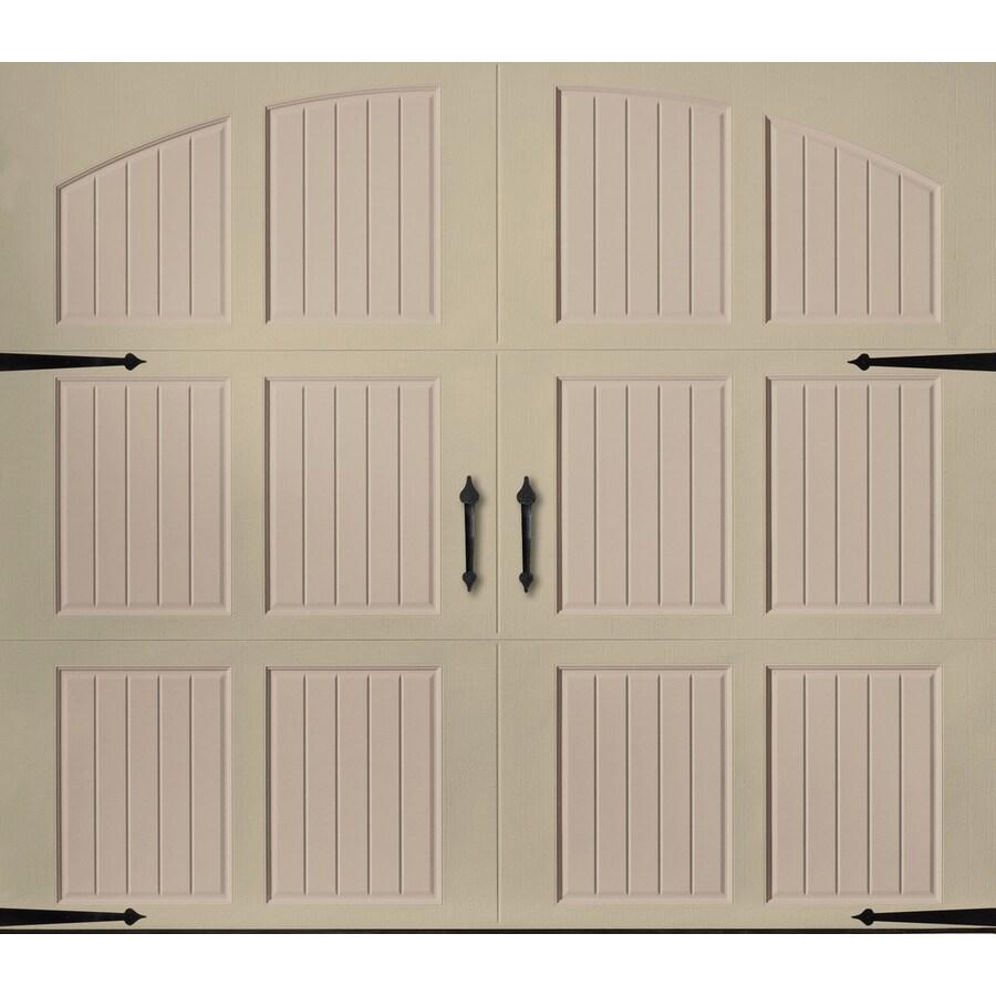 Pella Series 96-in x 84-in Insulated Wicker Tan-Sandtone Garage Door