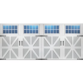 pella 192in x 84in insulated true whitegray double garage door