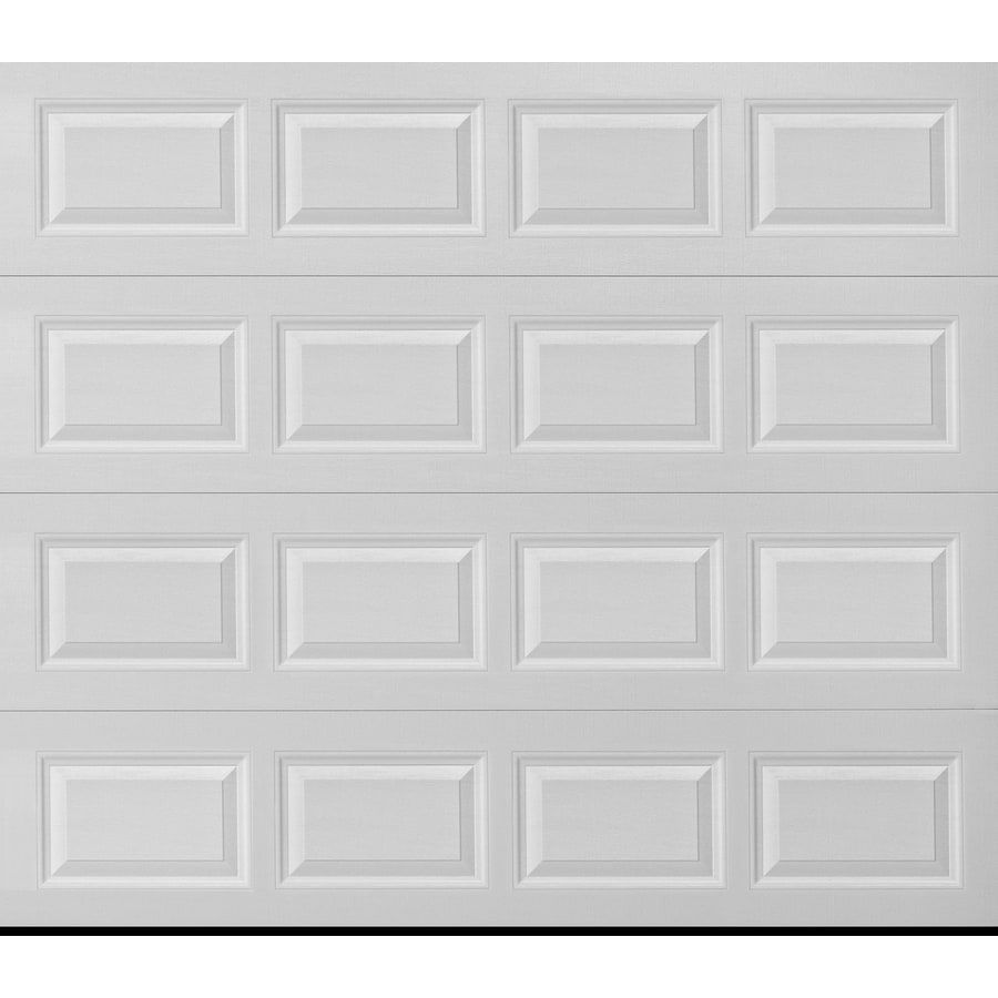 Pella Traditional 108-in x 84-in White Single Garage Door