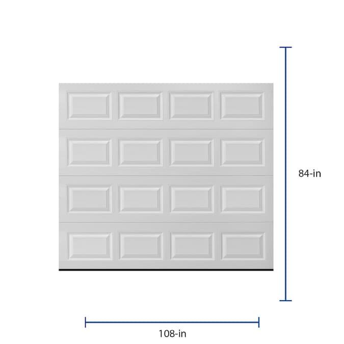 Pella Traditional 108 In X 84 In White Single Garage Door In The Garage Doors Department At Lowes Com