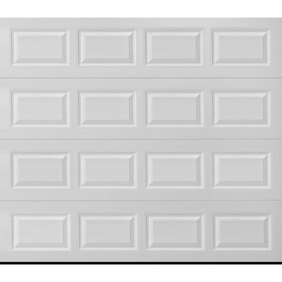 Pella 96-in x 84-in Insulated White Single Garage Door