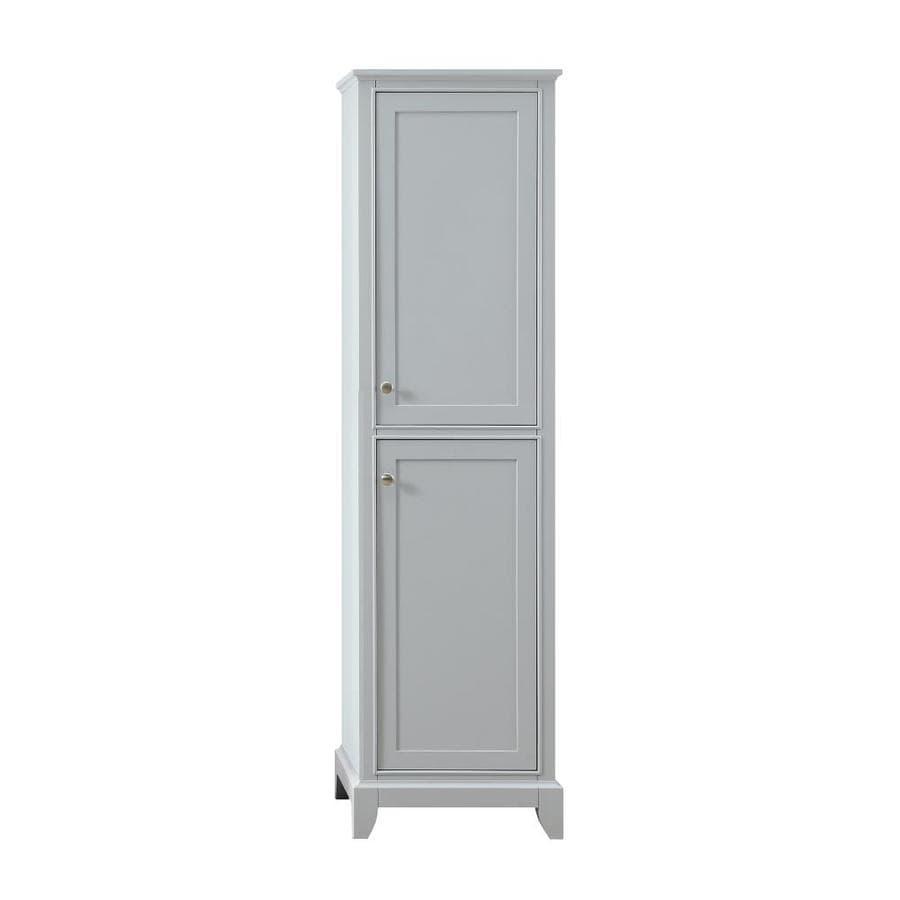 Azzuri aurora 20 in w x 72 in h x 19 in d light gray - Freestanding bathroom linen closet ...