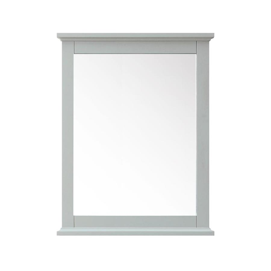 Avanity Azzuri Aurora 28-in x 34-in Light Gray Rectangular Framed Bathroom Mirror