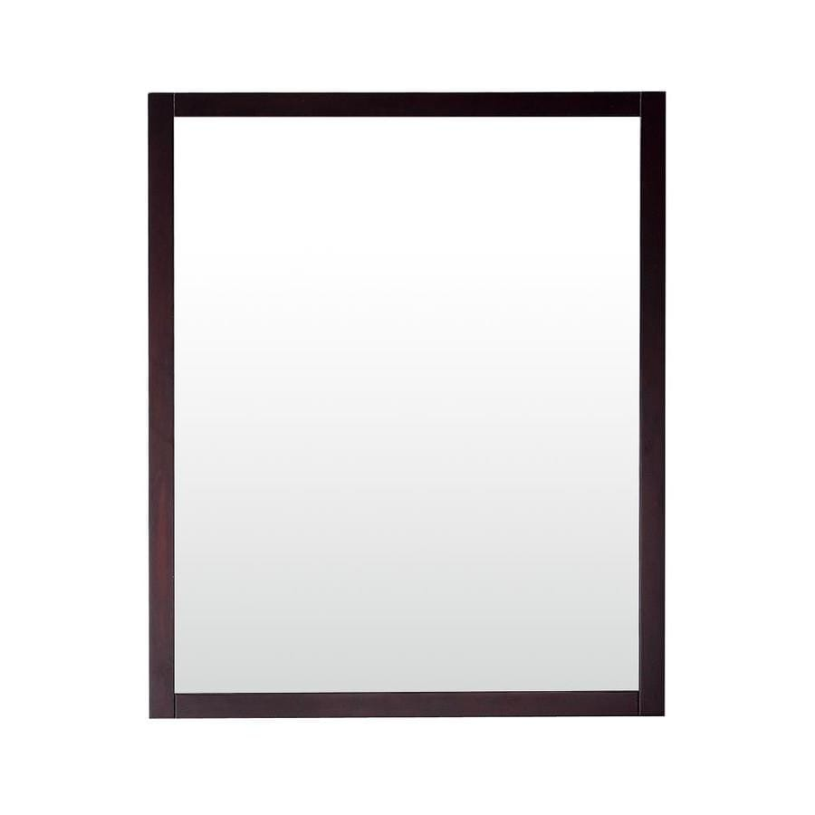 Shop Avanity Azzuri Rockford 28 In X 34 In Dark Espresso Rectangular Framed Bathroom Mirror At