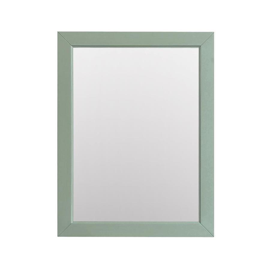 Avanity Azzuri Mercer 24-in x 32-in Sea Green Rectangular Framed Bathroom Mirror