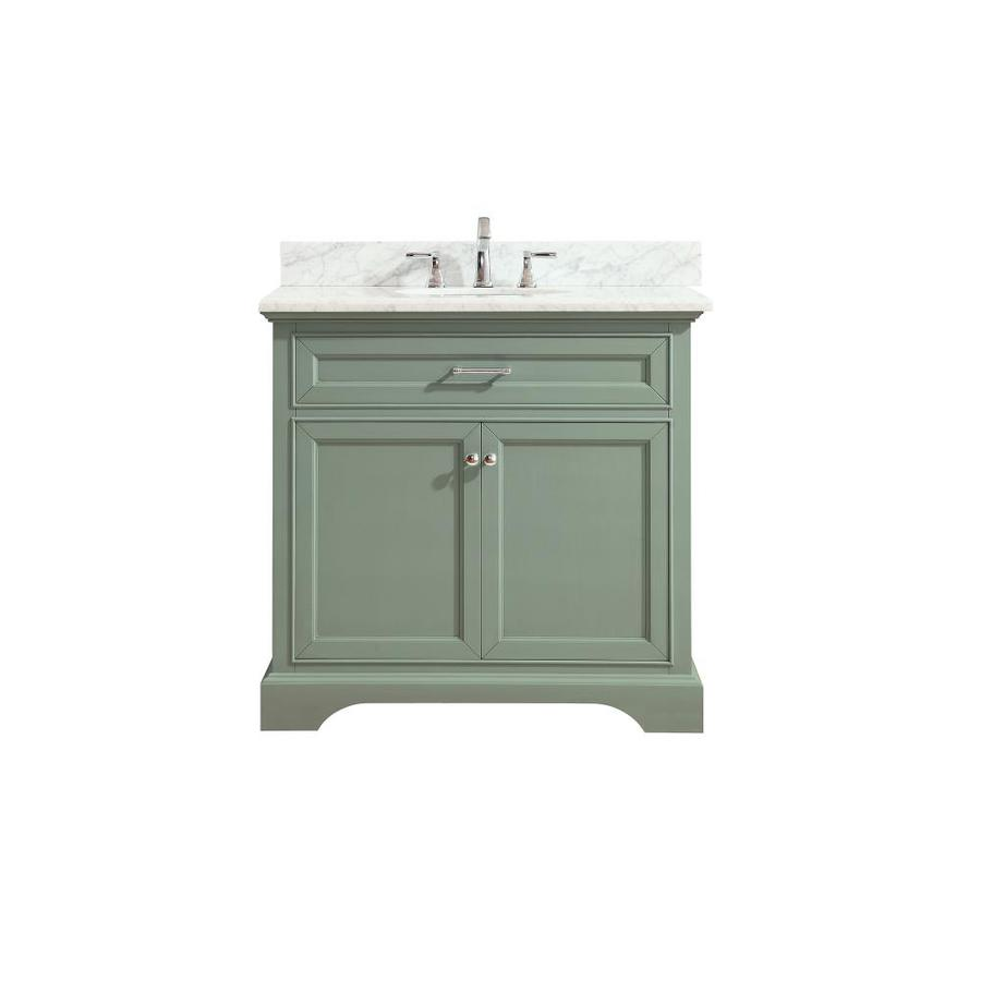 Avanity Mercer Sea Green Undermount Single Sink Bathroom Vanity with Natural Marble Top (Common: 37-in x 22-in; Actual: 37-in x 22-in)