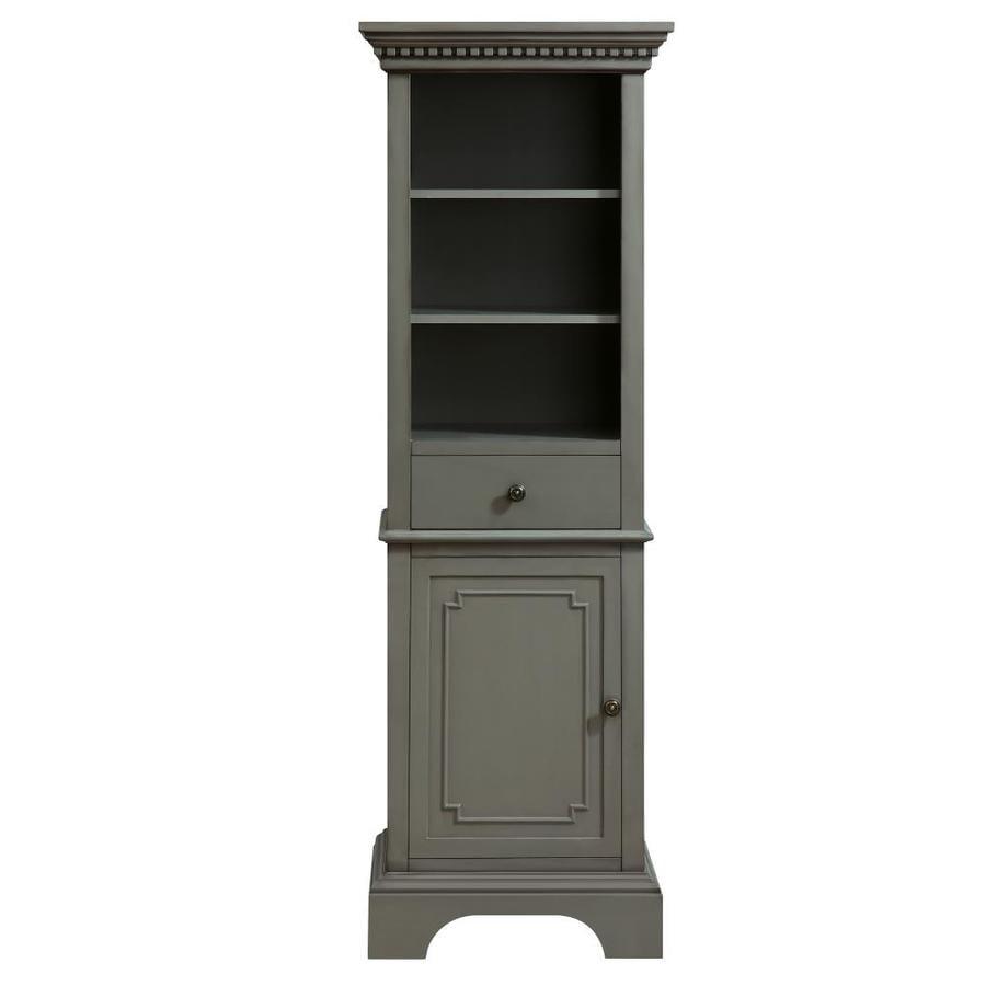Azzuri Hastings 22-in W x 65-in H x 16-in D French Grey Poplar Freestanding Linen Cabinet
