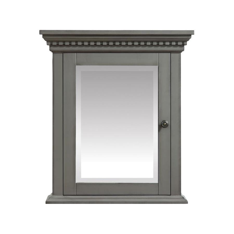 Azzuri Hastings 24-in x 27-in Rectangle Surface Poplar Wood Mirrored Medicine Cabinet
