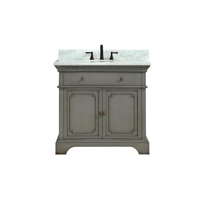 Azzuri Hastings 37 In French Gray Single Sink Bathroom