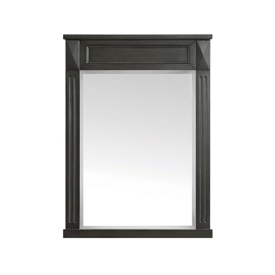 Azzuri Azzuri Sterling 24-in x 32-in Charcoal Rectangular Framed Bathroom Mirror