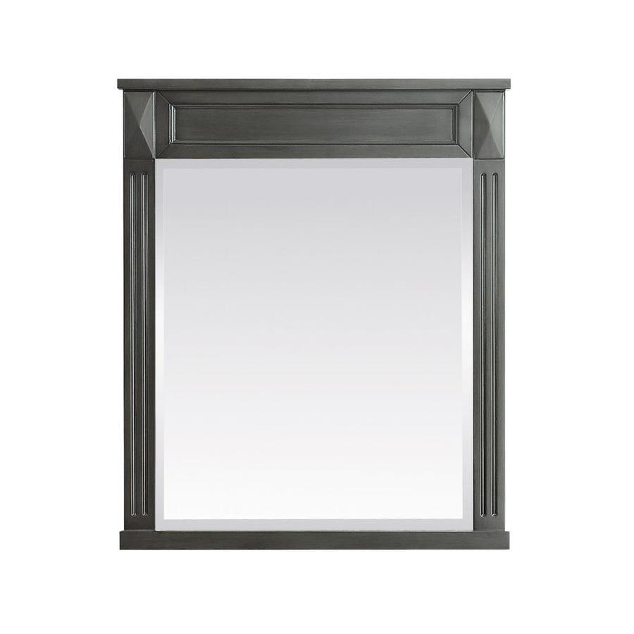 Avanity Azzuri Sterling 28-in x 32-in Charcoal Rectangular Framed Bathroom Mirror