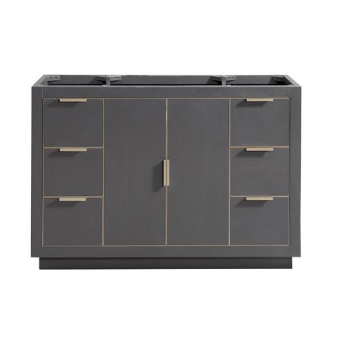 Avanity Austen 48-in Twilight Gray Bathroom Vanity Cabinet ...