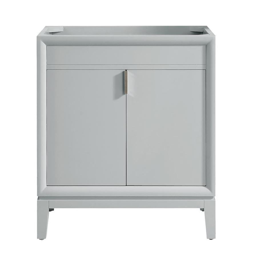 Shop avanity emma freestanding dove gray 30 in x 21 5 in modern bathroom vanity at for 30 x 21 bathroom vanity white