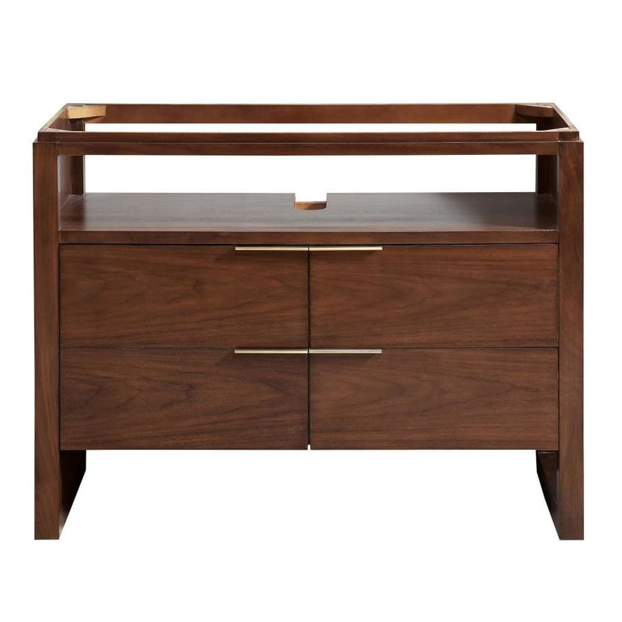 Avanity giselle 43 in natural walnut finish bathroom vanity cabinet