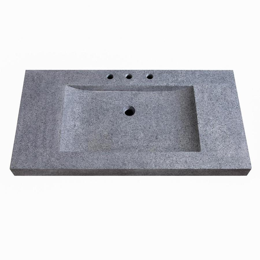 Avanity 32 In Dark Gray Granite Single Sink Bathroom Vanity Top In The Bathroom Vanity Tops Department At Lowes Com