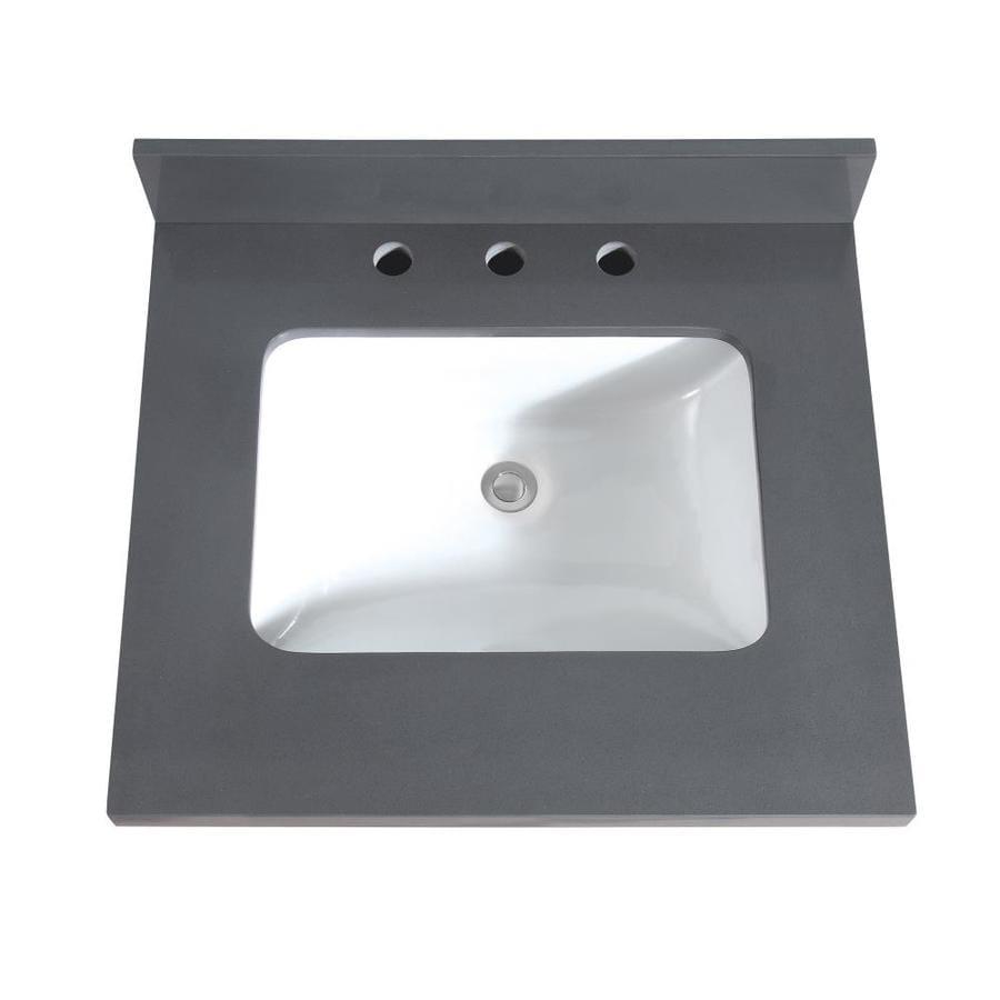 Avanity 25 In Gray Quartz Bathroom Vanity Top At Lowes Com