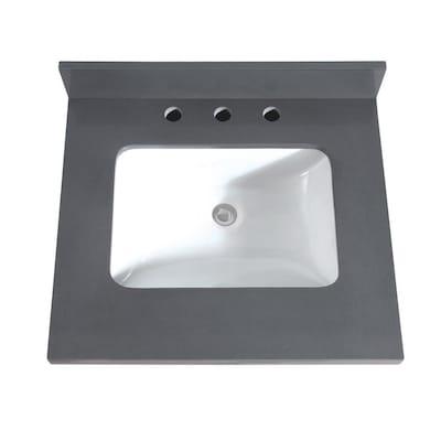 Gray Quartz Bathroom Vanity Top