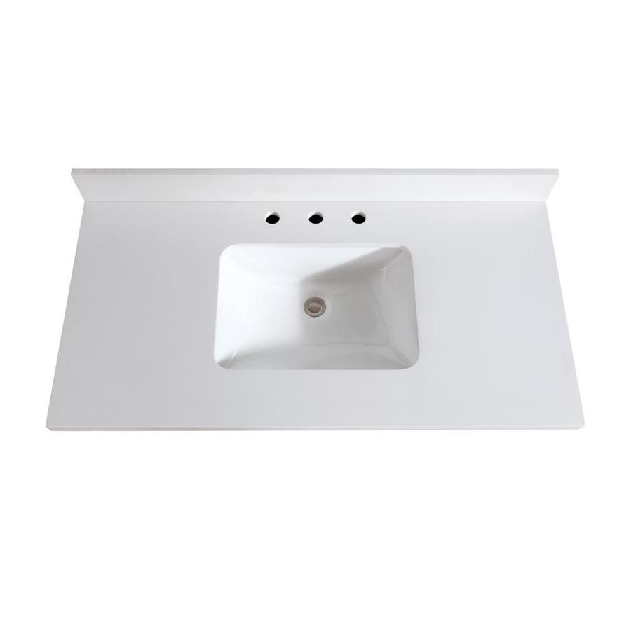 Avanity 43-in White Quartz Bathroom Vanity Top at Lowes.com