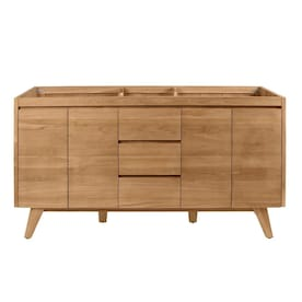 Avanity Coventry 72 In Natural Teak Bathroom Vanity Cabinet In The Bathroom Vanities Without Tops Department At Lowes Com