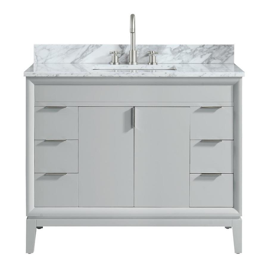 Avanity Emma 43 In Dove Gray Single Sink Bathroom Vanity