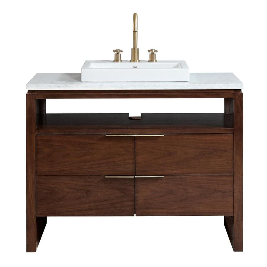 Avanity Giselle 43-in Natural Walnut Finish Single Sink ...