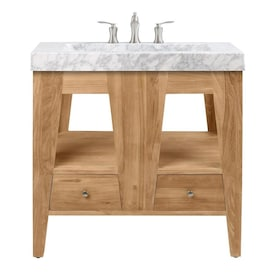 Bellaterra Home 33 In White Single Sink Bathroom Vanity With White Phoenix Stone Natural Marble Top In The Bathroom Vanities With Tops Department At Lowes Com