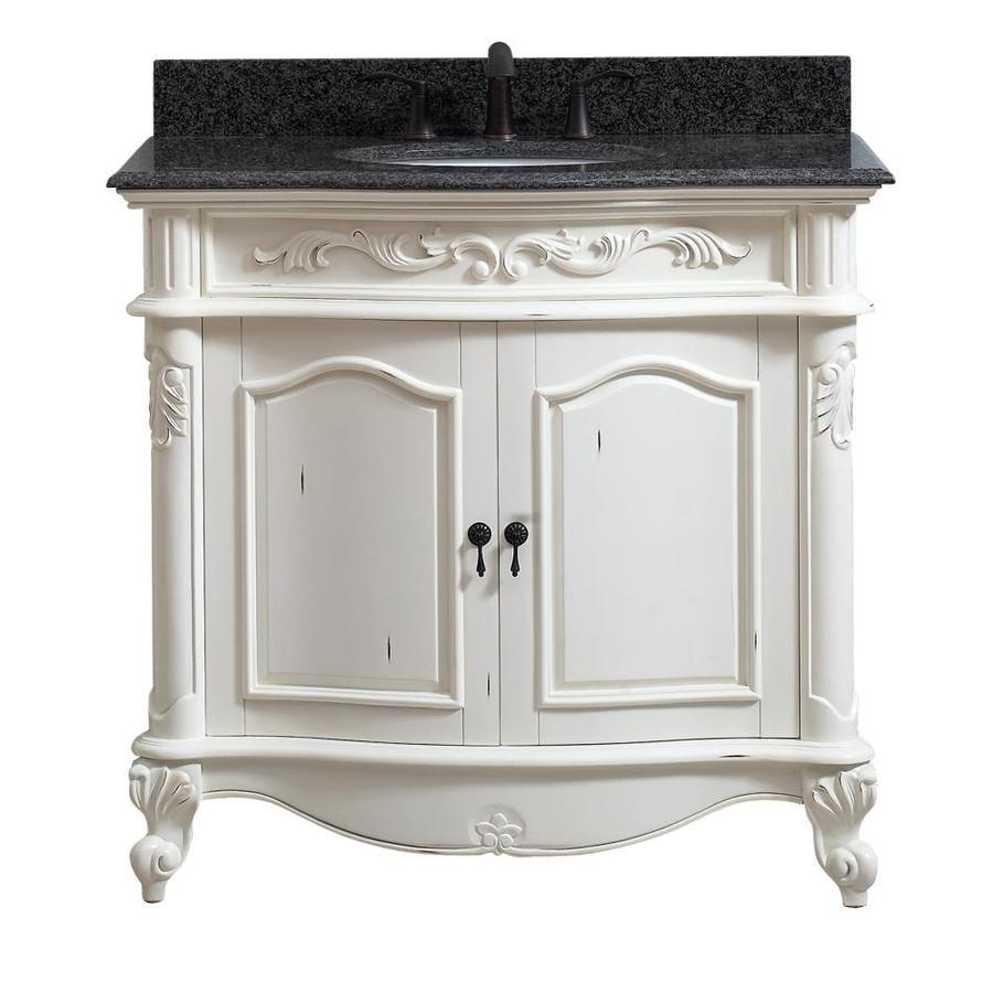 Merveilleux Avanity Provence Antique White Undermount Single Sink Bathroom Vanity With  Granite Top (Common: 37