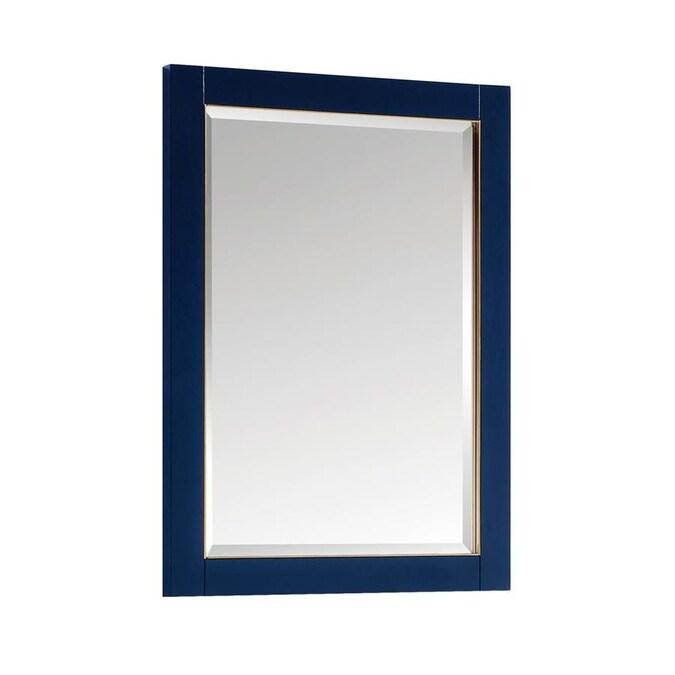 Avanity Mason 24 In Navy Blue Rectangular Bathroom Mirror In The Bathroom Mirrors Department At Lowes Com