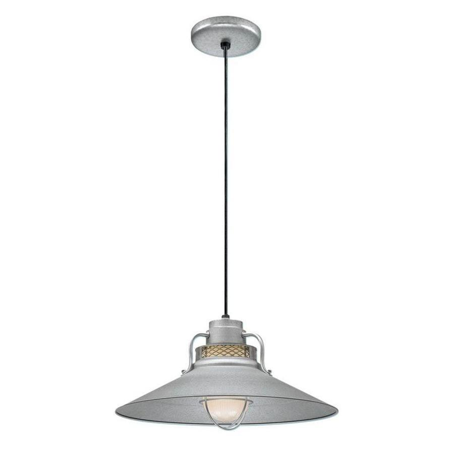 Original Warehouse Pendant Light: Millennium Lighting R Series Galvanized Mini Traditional