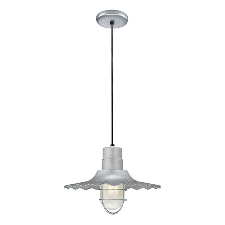 Original Warehouse Pendant Light: Millennium Lighting R Series Galvanized Single Traditional