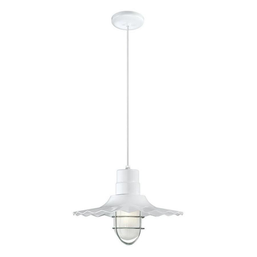 Original Warehouse Pendant Light: Millennium Lighting R Series White Single Traditional