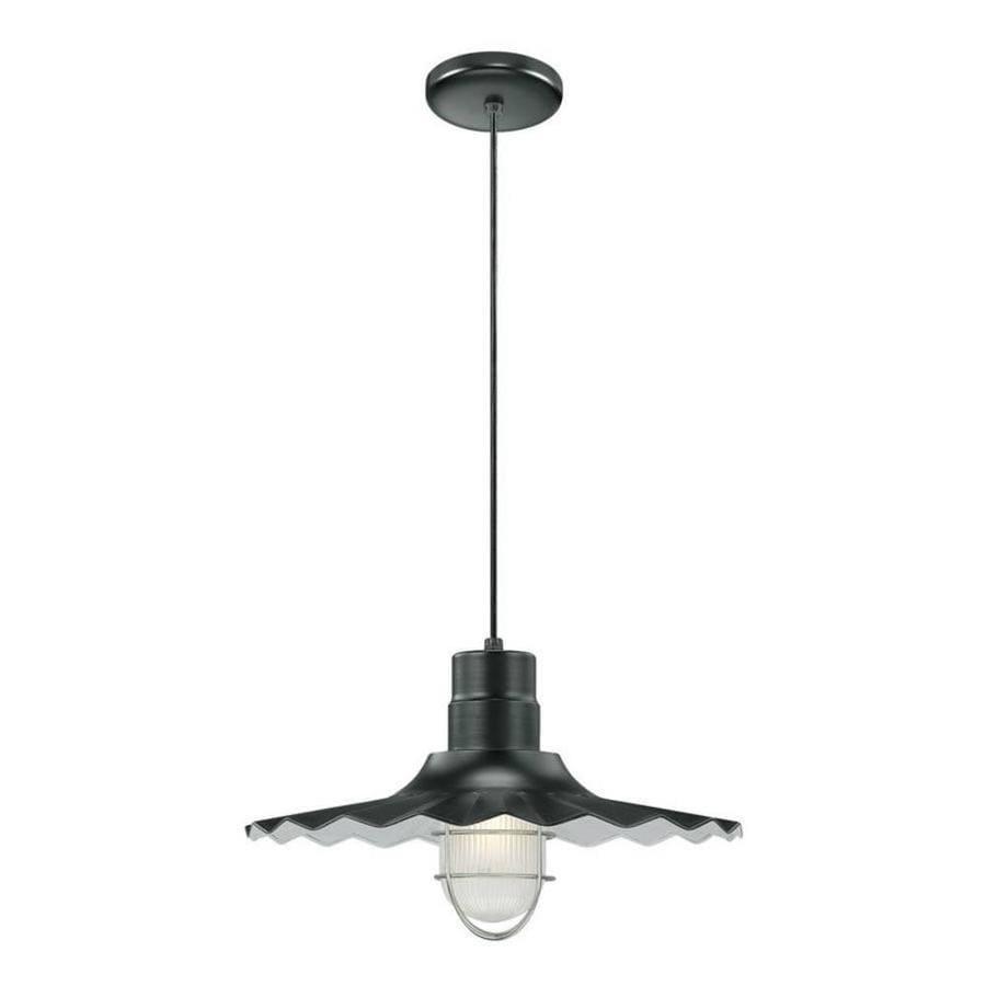 Original Warehouse Pendant Light: Millennium Lighting R Series Satin Black Single