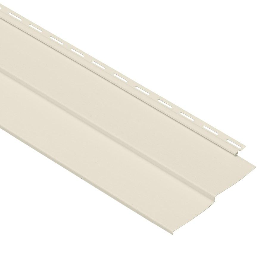 Georgia-Pacific Forest Ridge Double 4 Traditional Cream Vinyl Siding Panel 8-in x 150-in
