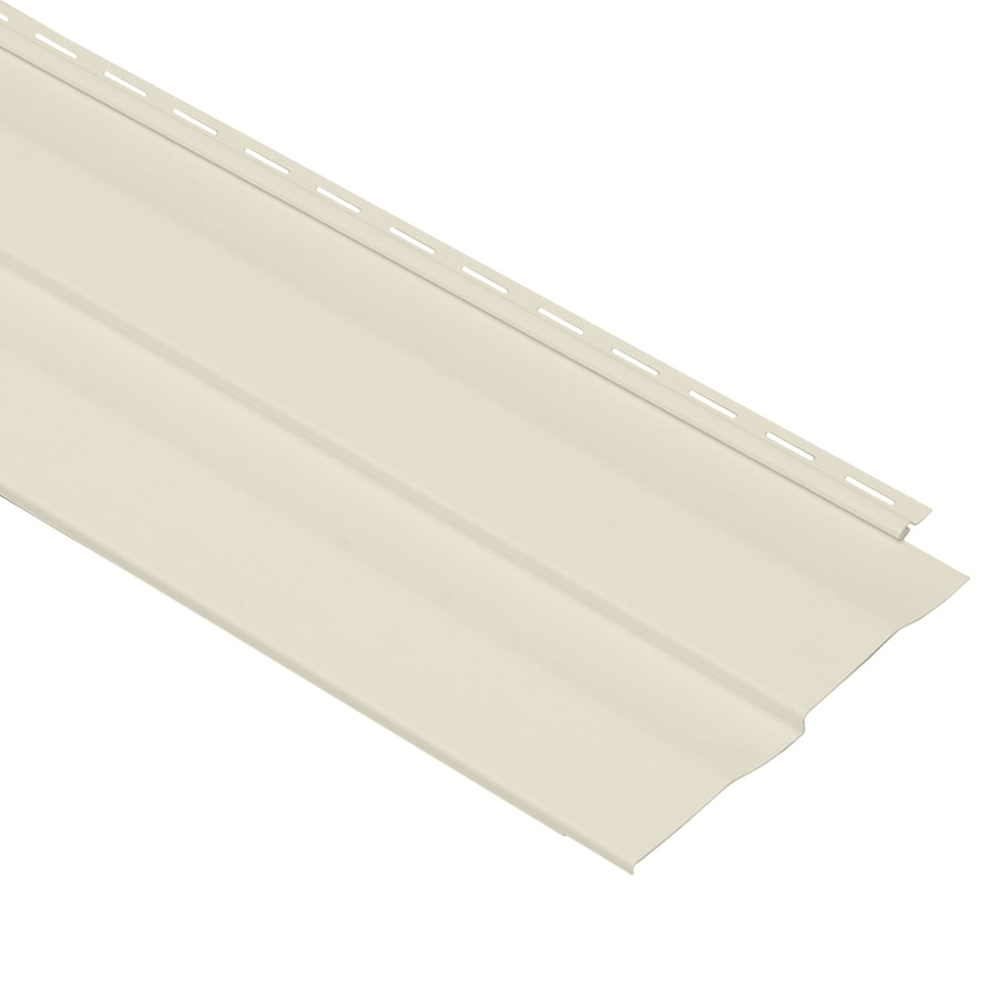 Georgia-Pacific Shadow Ridge Double 5 Dutch Lap Cream Vinyl Siding Panel 10-in x 144-in